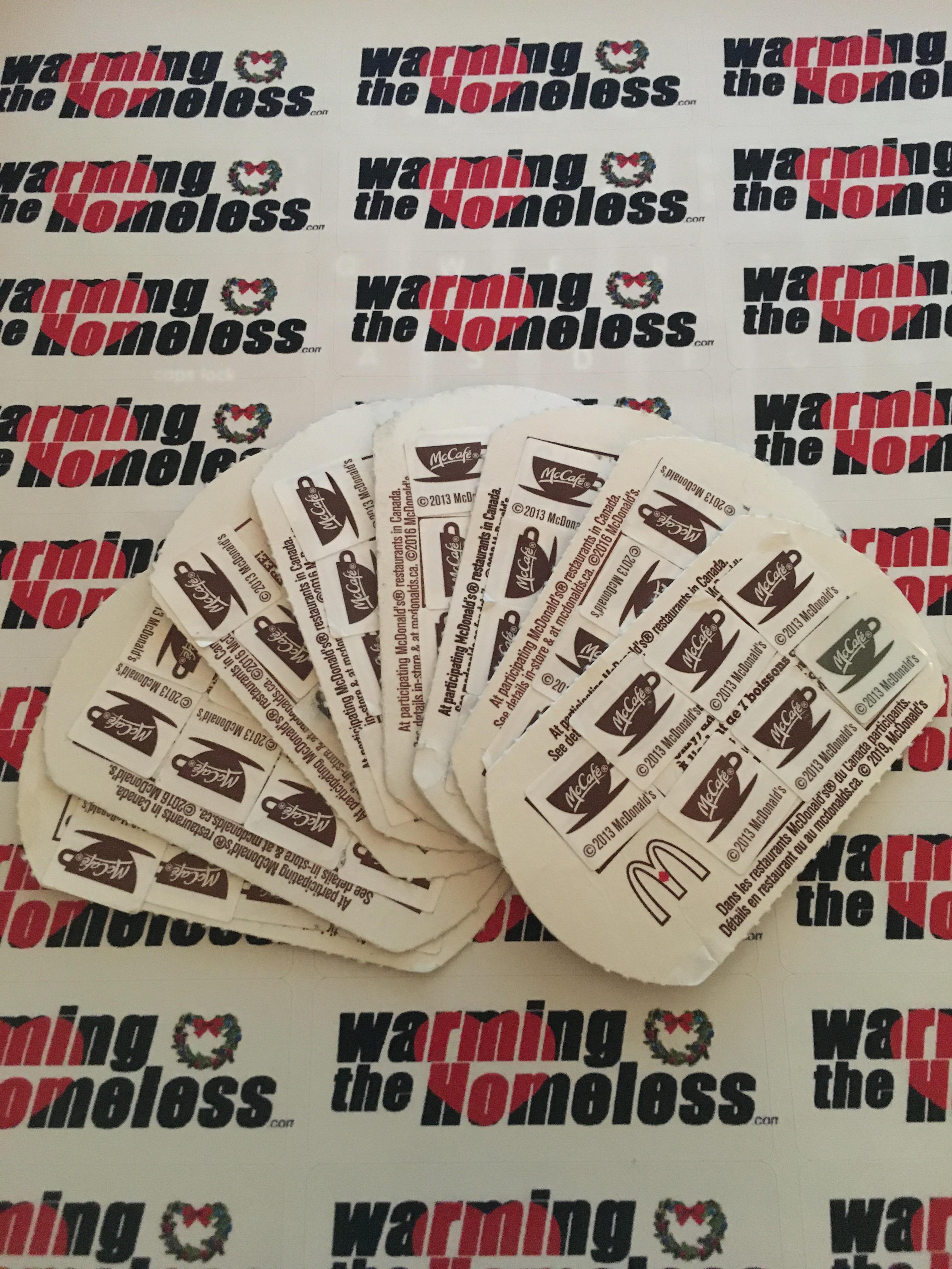 Donations McD's Coffee Cards - Kam & Gen